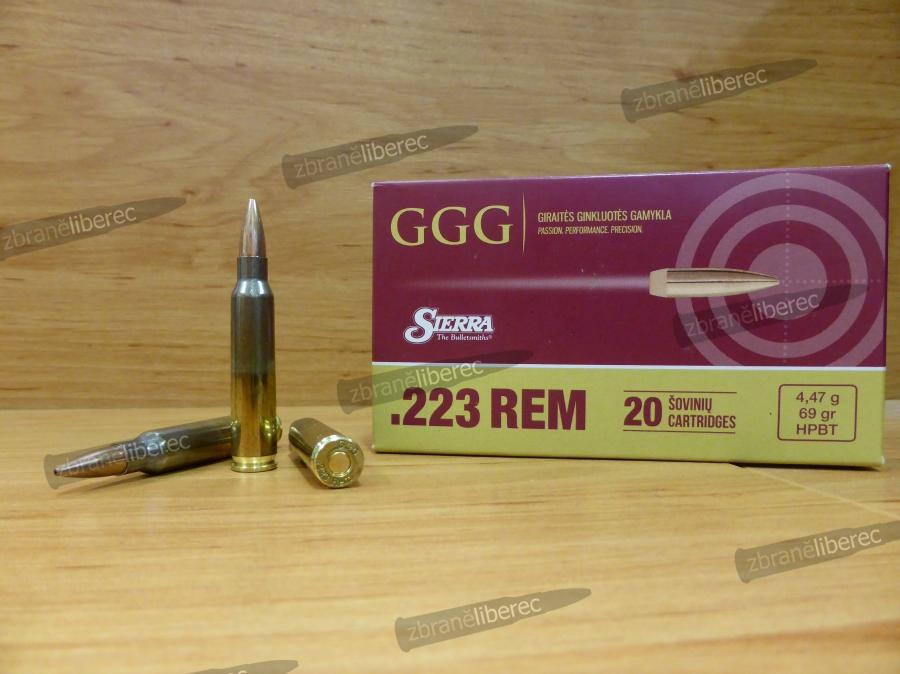 223 REM HPBT SIERRA MATCHKING 69gr - GGG — Zbraně Liberec